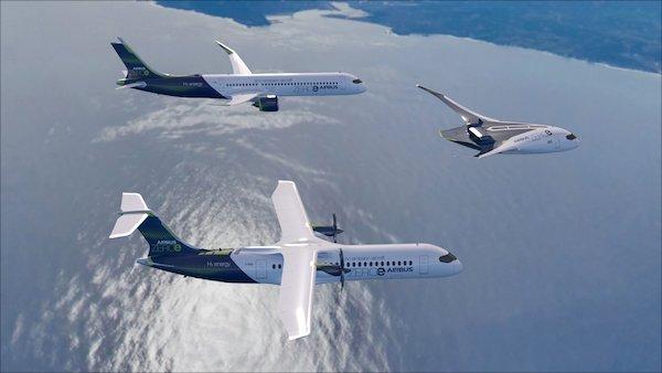 Airbus ne veut pas un, mais trois modèles d'avions à hydrogène dans les airs d'ici 2035